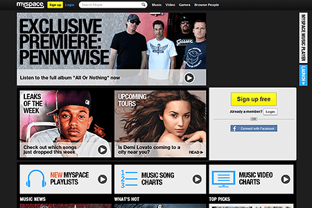MySpace in 2012