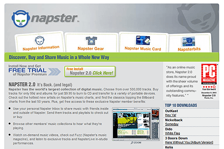 Napster in 2003