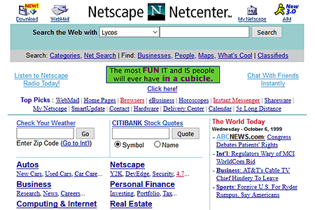 Netscape in 1999