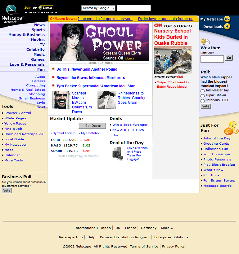 Netscape in 2002
