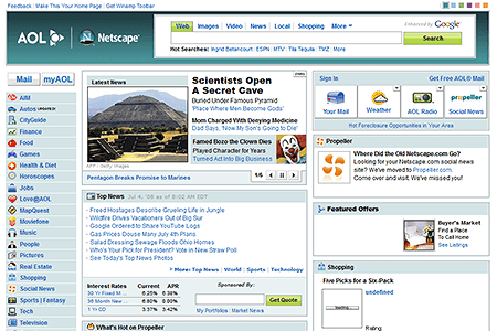 AOL - Netscape in 2008