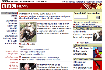 BBC News in 2000