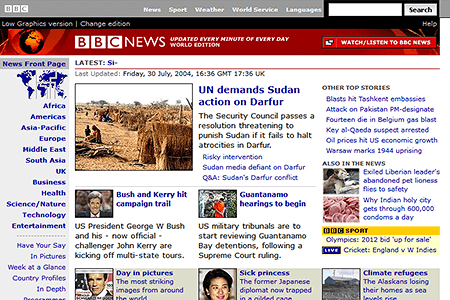 BBC News in 2004