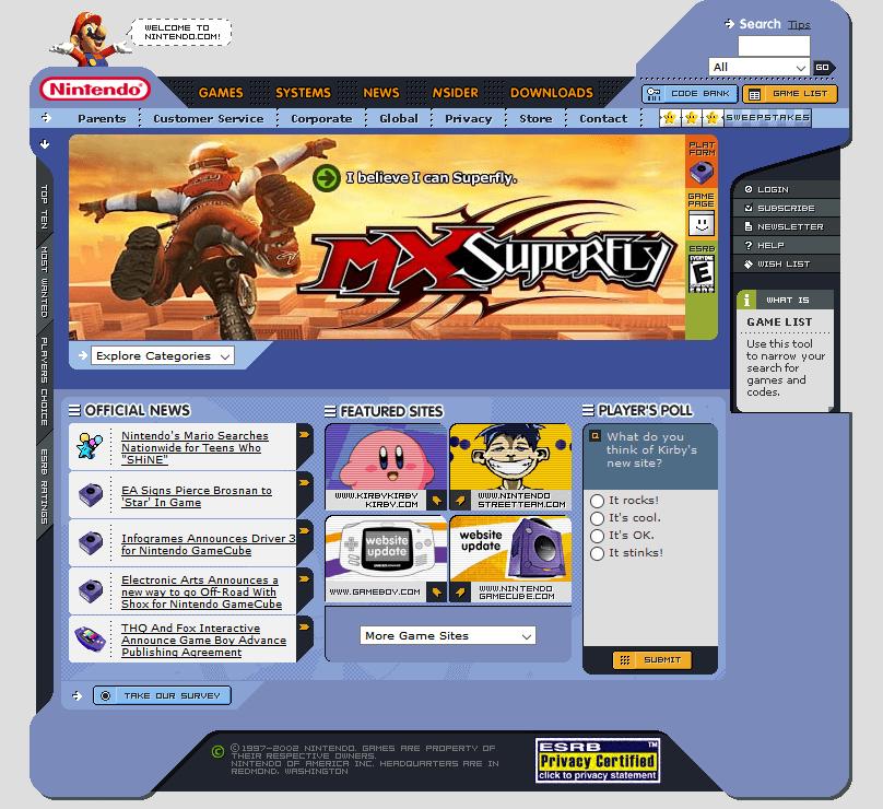 Nintendo in 2002 | Web Design Museum