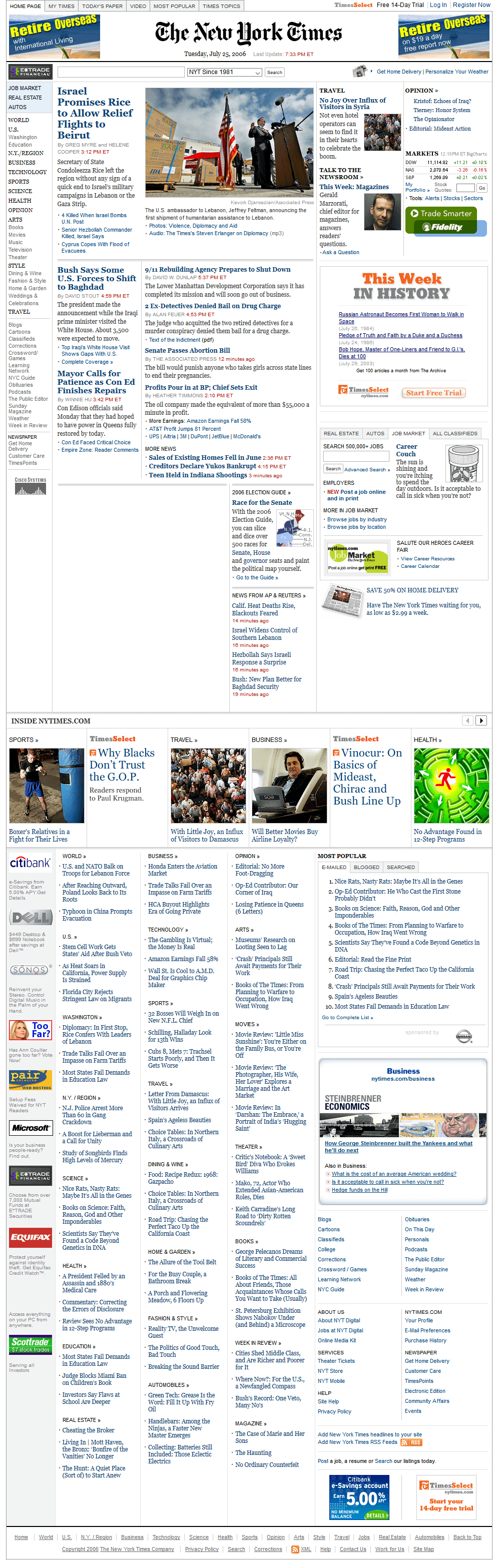 The New York Times in 2006