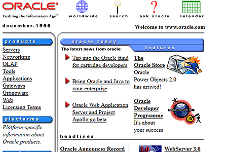 Oracle in 1996