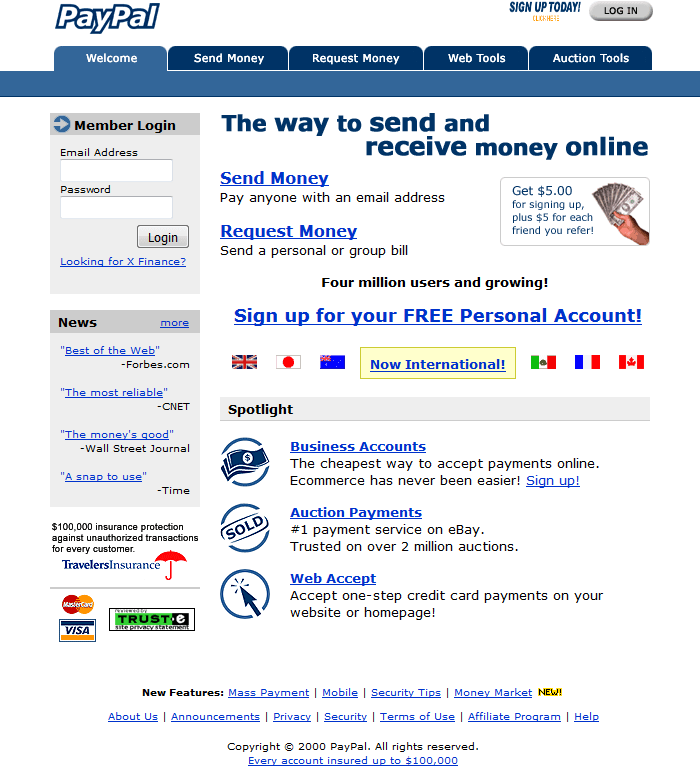 PayPal in 2000