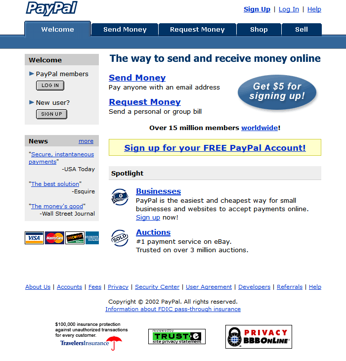 PayPal in 2002