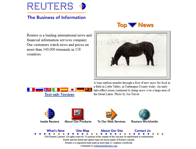 Reuters in 1996
