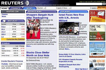 Reuters in 2002
