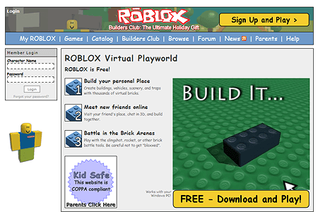 Roblox in 2005 | Web Design Museum