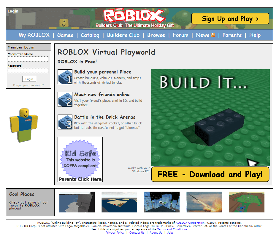 Roblox in 2007