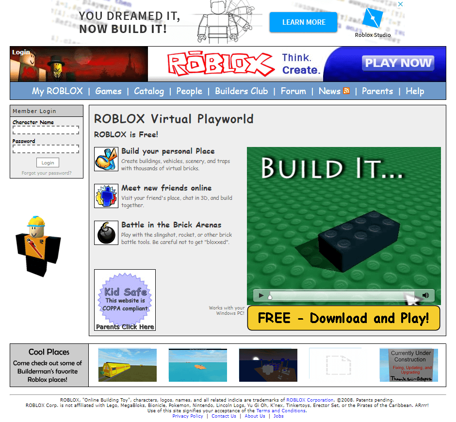 Roblox in 2008