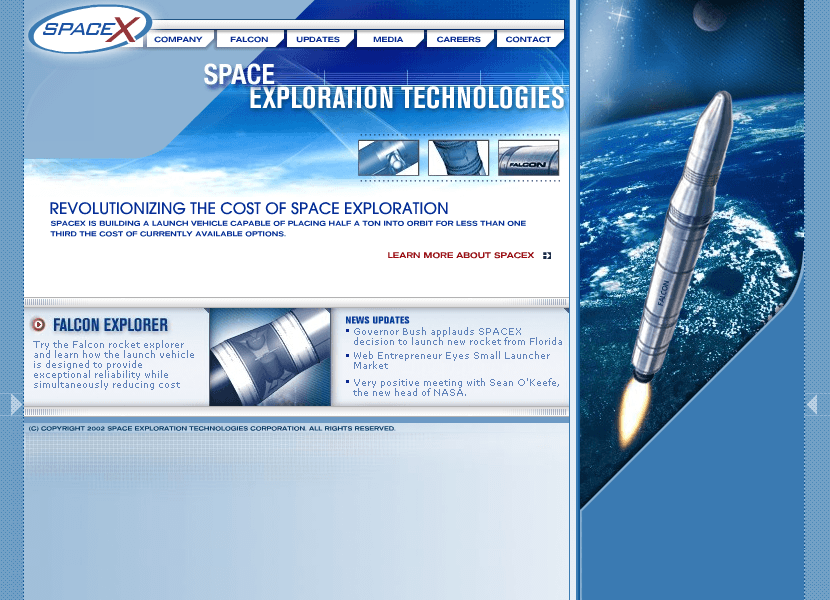 SpaceX in 2002