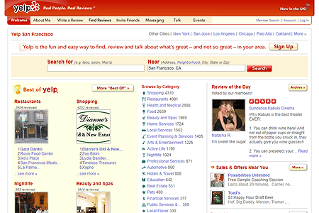 Yelp in 2009