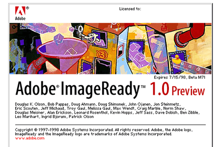 Adobe ImageReady 1.0