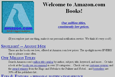 Amazon.com website in 1995