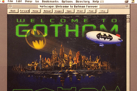 Batman Forever website in 1995
