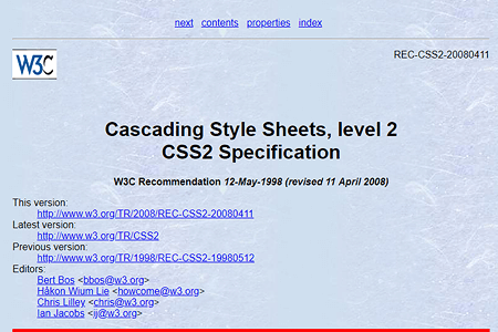 CSS2 specification 1998