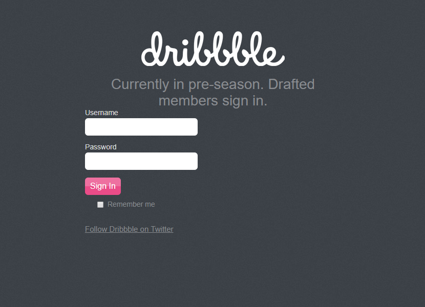 Dribbble.com website in 2009