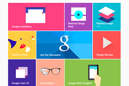 Google Material Design website in 2014