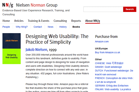 Jakob Nielsen – Designing Web Usability: The Practice of Simplicity