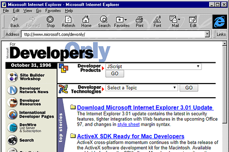 JScript 1.0 and Internet Explorer 3.0