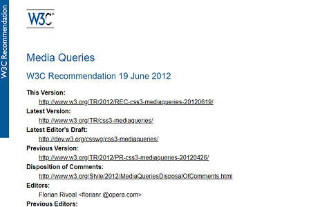 Media Queries recommendation 2012