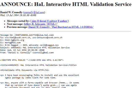 The first HTML validator