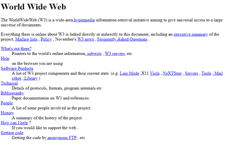 Tim Berners-Lee created the first website